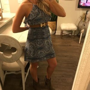 BCBGeneration Blue Paisley Print Dress